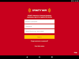 Screenshot of XFINITY WiFi