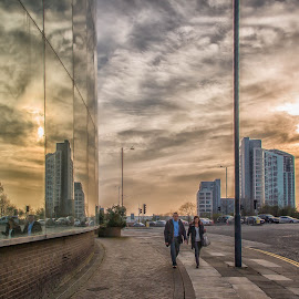 End of the Day by Graeme Murray - Buildings & Architecture Office Buildings & Hotels ( reflection, street, buildings, architecture, people, city )