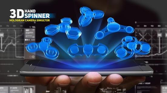 Hand spinner hologram camera