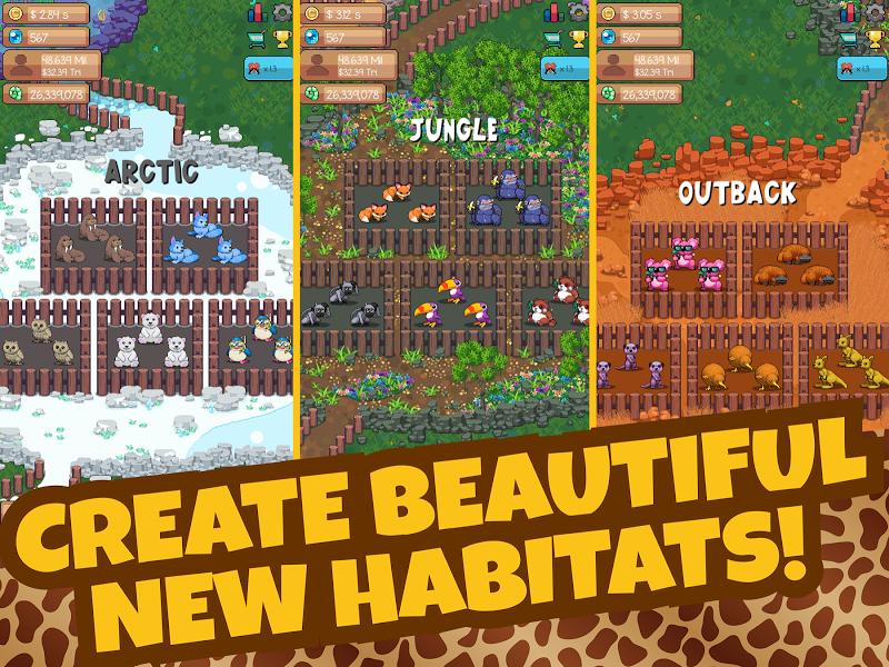 Idle Tap Zoo: Tap, Build & Upgrade a Custom Zoo Screenshot 14