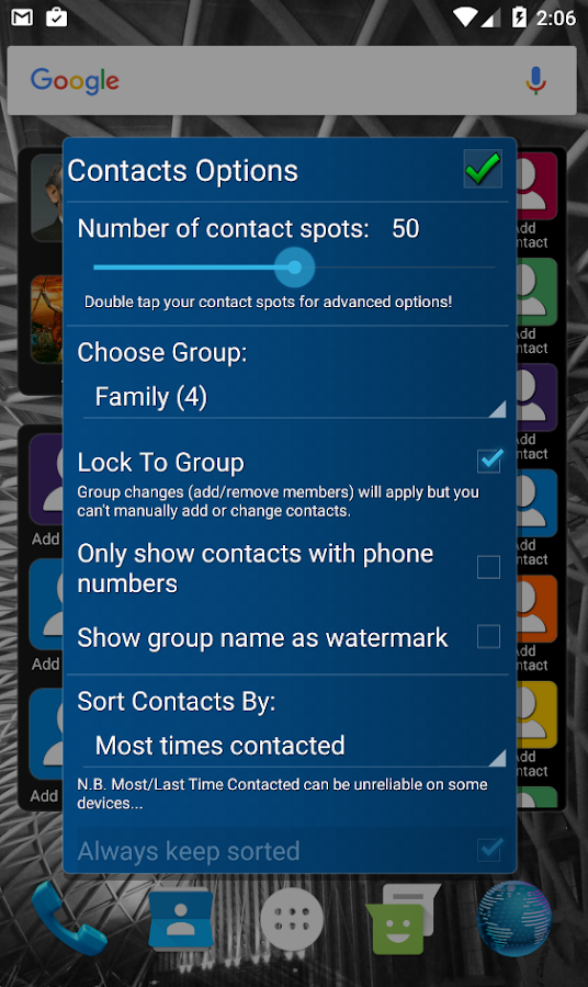 Mad Contacts Widget Screenshot 6