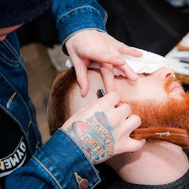 Barbers world by Paweł Mielko - People Body Art/Tattoos ( beards, tattoos, barbershop, barbers, beard, barber, tattoo,  )