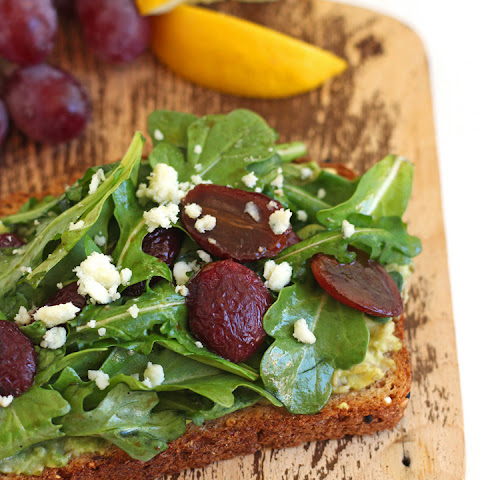 Avocado Toast with Balsamic Roasted Grapes