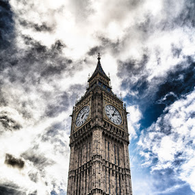 Big Ben HDR by Dimitri Foucault - Travel Locations Landmarks ( clouds, famous landmarks, pwclandmarks, sky, hdr, london, ben, big )