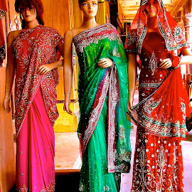 DRESSES IN INDIA by Doug Hilson - Artistic Objects Clothing & Accessories ( formal wear, 'fashion, colorful, dresses, india )