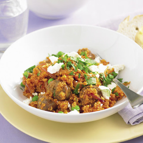 Sausage, Pea and Feta Couscous