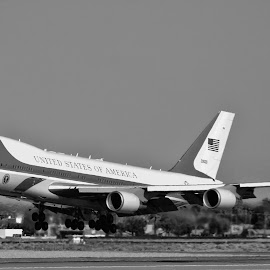 Air Force One by Tom Anderson - Transportation Airplanes ( calfornia, palm springs, air force one, us air force, usaf, president barack obama )