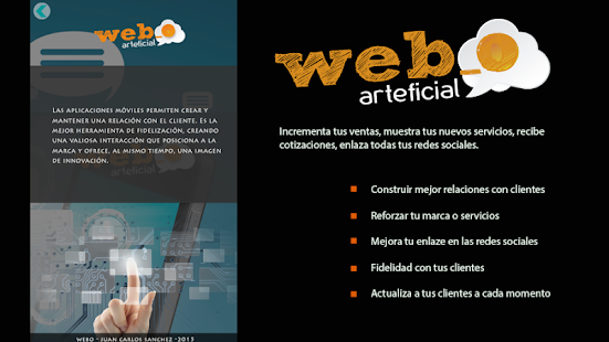 WEBO ARTEFICIAL - screenshot
