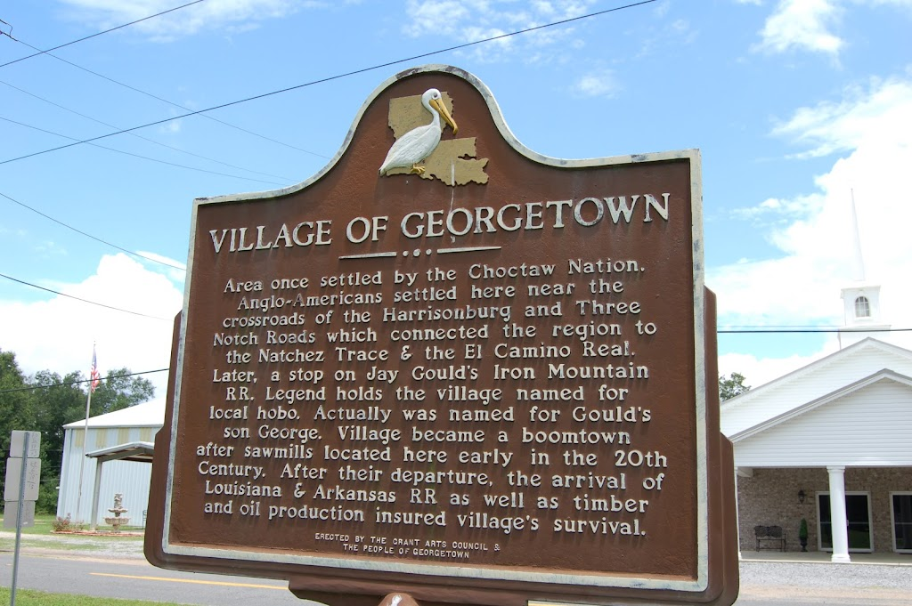 Area once settled by the Choctaw Nation. Anglo-Americans settled here near the crossroads of the Harrisonburg and Three Notch Roads which connected the region to the Natchez Trace & the El Camino ...