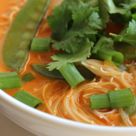 One-Pot Red Curry Noodle Soup [Vegan]