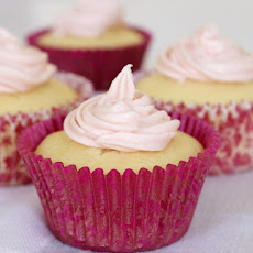 Simple Lemon Cupcakes with Raspberry Frosting - Conventional