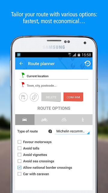 ViaMichelin: Route GPS Traffic screenshots