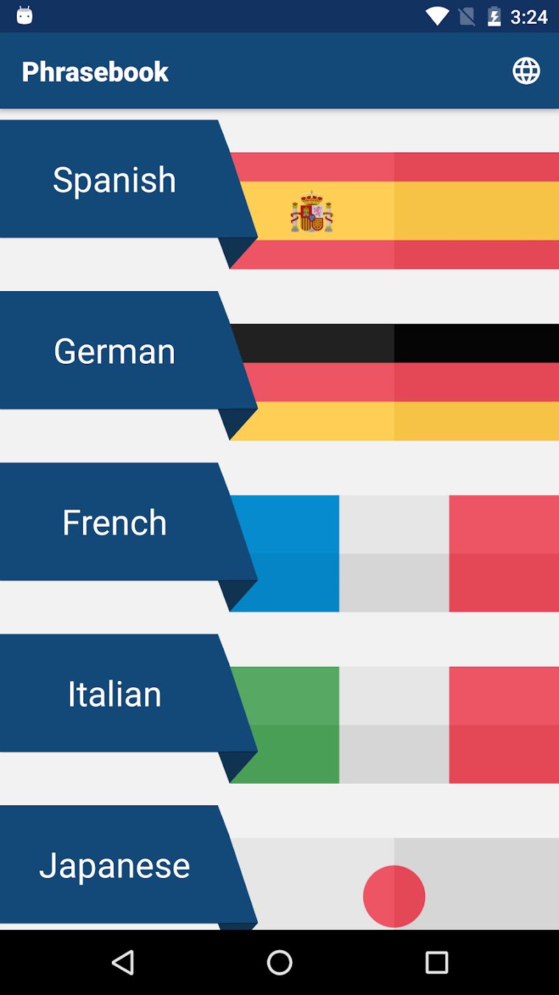Travel Phrasebook | Foreign Language Translator Screenshot 0