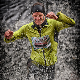 Strong, Stronger, The Strongest ! by Marco Bertamé - Sports & Fitness Other Sports ( water, 1856, splash, splatter, differdange, 2015, number, yellow, waterdrops, running, luxembourg, strong, drops, strongmanrun, man )