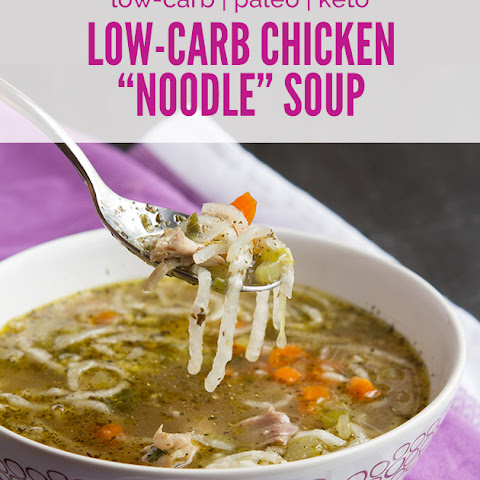 "Low-Carb Chicken ""Noodle"" Soup"