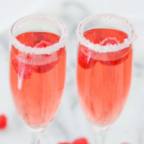 Rosé + Raspberry Cocktail