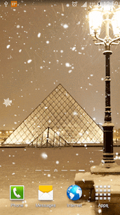 Snow in Paris Live Wallpaper - screenshot