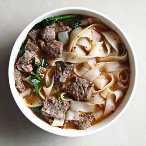 Easy Noodle Soup with Marinated Meat