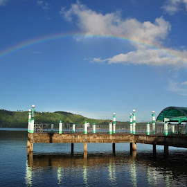 Morning Walk At The Park by Rens Tuzon - Landscapes Travel ( morning walk, jogging, jose panganiban, camarines norte, morning glory, bicol, rainbow,  )