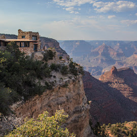 Lookout Studio at Grand Canyon National Park by Steve Wells - Buildings & Architecture Public & Historical ( grand canyon national park, arborwells photography, steve l wells, canyon, architecture, rocks, lookout studio, historic )