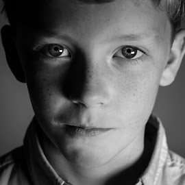 In these eyes... by Vix Paine - Babies & Children Child Portraits ( blackandwhite, headshot, beauty, preteen, boy )
