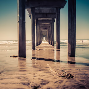 La Jolla, Scripps Pier by Jayasimha Nuggehalli - Buildings & Architecture Bridges & Suspended Structures