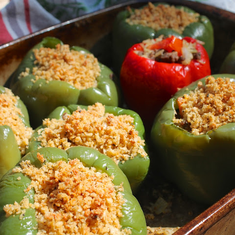 Baked Stuffed Peppers {Amish Family Recipe}