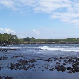 Black sand beach by Arlita Baptista - Landscapes Beaches