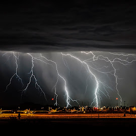 Airplanes by Scott Wood - Landscapes Weather ( lightning, monsoon, arizona, storm chasing, storm )