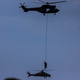 Military excercises by Cobus Olivier - Transportation Helicopters ( helicopter, south africa, airshow, troops, military )
