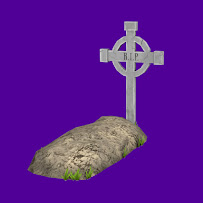 Grave with celtic cross