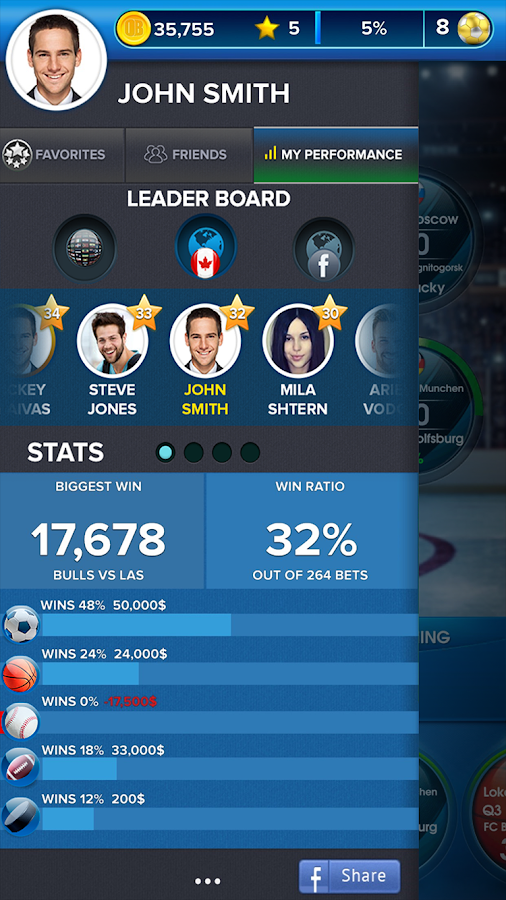 OddsBlast -Sports Betting Game Screenshot 3