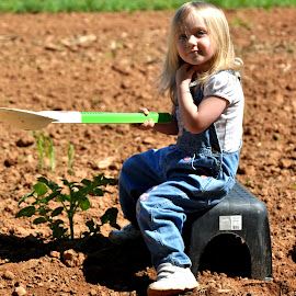 Who Me by Tammy Price - Babies & Children Toddlers ( planting, children, dirl, toddler, garden, outside )