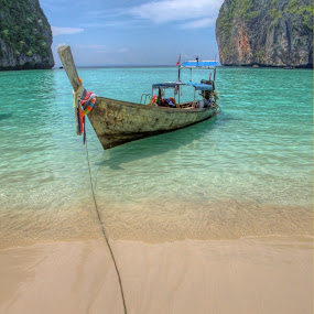 moored on phi phi by Jon Harris - Artistic Objects Other Objects