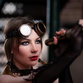 Steampunk 4 by Chris O'Brien - People Portraits of Women ( girl, woman, theme, beauty, steampunk,  )