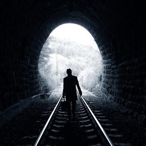Sweet Escape by Tea Jagodic - Travel Locations Railway ( railway, train, coat, tunnel )