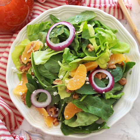 Orange Walnut Salad with Sweet and Sour Dressing
