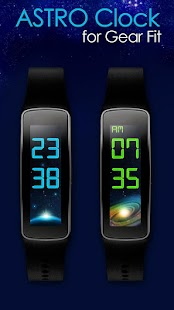 24/12 Astro Clock for Gear Fit - screenshot