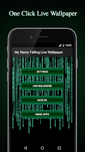 My Name Falling Live Wallpaper - screenshot