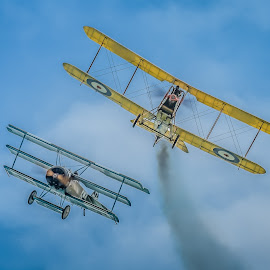 WW1 dogfight by Anthony P Morris - Transportation Airplanes ( ww1, plane, anthony morris, airoplanes, ww1dogfight, dogfight, airoplane, planes )