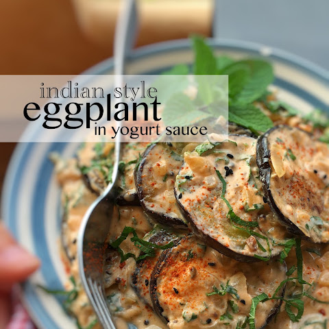 Indian Style Eggplant in Yogurt Sauce