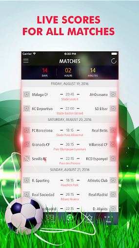 Live Scores for Laliga 2016-17 APK