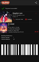 Screenshot of Alamo Drafthouse Ticketing App