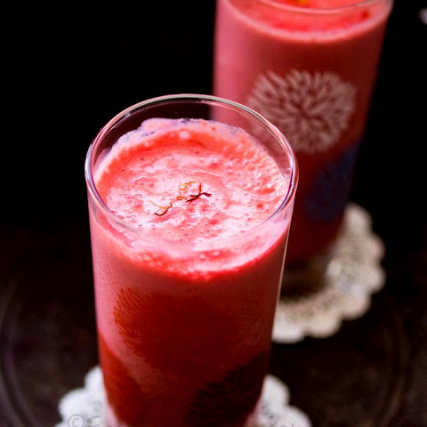 Rose Lassi With Chia Seeds