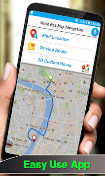 GPS Voice Driving Route Guide: Earth Map Tracking APK screenshot thumbnail 2