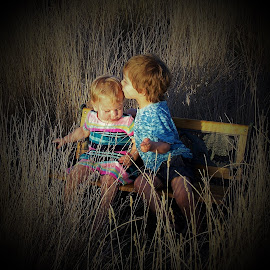 Brotherly Love by Sarah Harding - Babies & Children Child Portraits ( love, outdoors, children, natural, portrait,  )