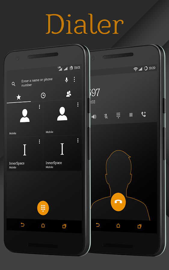 Sense Black/Orange cm13 theme Screenshot 4