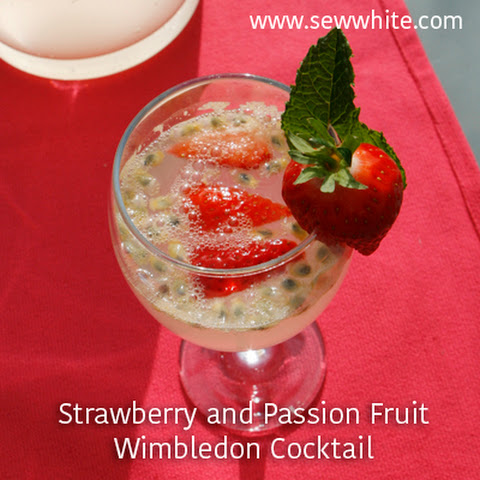 Strawberry and Passion Fruit Wimbledon Cocktail