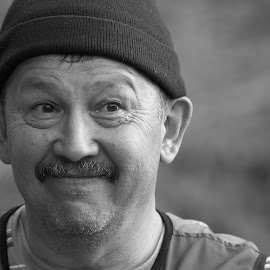 Renat by Nail Asfandiarov - People Portraits of Men ( tourist, black and white, portrait )