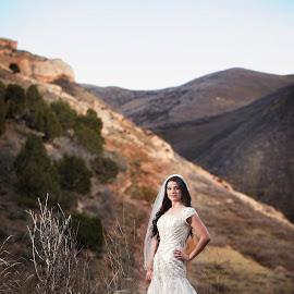 by Melissa Papaj - Wedding Bride ( model, mountain, bridal, female, woman, wedding, bride )